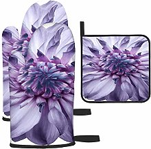 Rcdeey Dahlia Flower Light Purple Flower Potholder