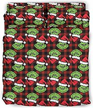 Rcerirt 4Pc Bed Sheet Set Gr-inch Christmas