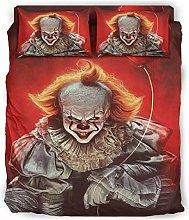 Rcerirt 4Pc Bed Sheet Set Horror Character