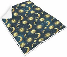 Rcerirt Moon Sun Light Colorless Couch Blanket for