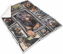 Rcerirt Rottweiler Cozy Colorful Fleece Blanket