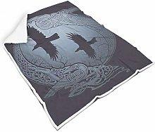 Rcerirt Viking Breathable Plush Blanket for Room