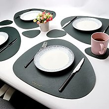 Rcherish Oval Leather Table Mats Set, 4 Placemats