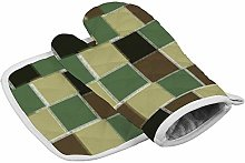 Rcivdkem Camouflage Colourful Square Green Oven