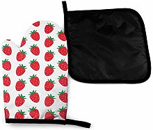 Rcivdkem Mitts Seamless Strawberry Pattern On