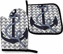 Rcivdkem Navy Blue Anchor Grey Chevron Kitchen