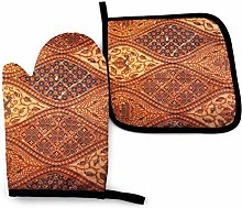 Rcivdkem Oven Mitts And Pot Holders Bbq Gloves,