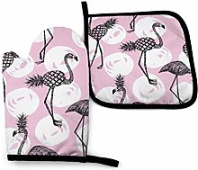 Rcivdkem Oven Mitts And Potholders Half Flamingo