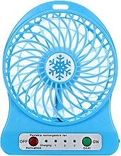 Rcool Portable Rechargeable LED Light Fan Mini Air