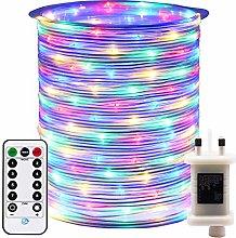 RcStarry 50M 500 LED Rope Lights, 8 Modes, Timer,