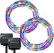 RcStarry Solar Wire Lights Outdoor String Lights,