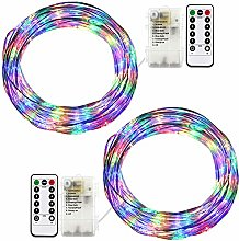 RcStarry Wire String Lights Multi-Color, Battery