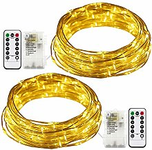 RcStarry Wire String Lights Warm White, Battery