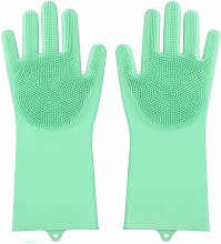 RdChicLog 2PCS Silicone Cleaning Gloves Kitchen