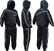 RDX Nylon Large Sauna Sweat Suit - Black.