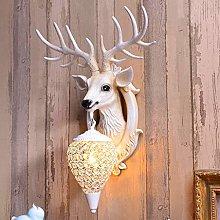 RDYL Chandelier, antler wall hanging lamp, retro