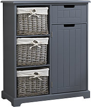 Ready Assembled Grey Console Cabinet with Willow