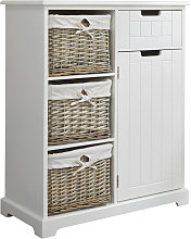 Ready Assembled White Console Cabinet with Willow