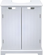 Ready Assembled White Under Sink Storage Unit -