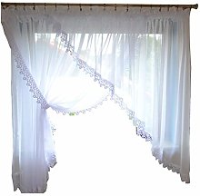 Ready Made Beautiful Short Sloping Curtain Windows