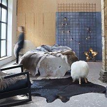 Real Cow Hide Rug Black 150x170 cm - Black