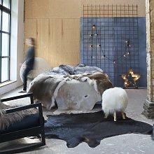 Real Cow Hide Rug Black 150x170 cm VD24881 - Hommoo
