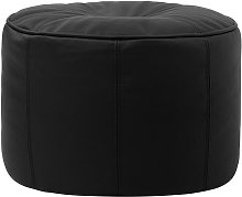 Real Leather Pouffe - 43cm x 28cm Footstool - Icon