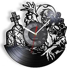 Real vinyl wall clock scary halloween silent house