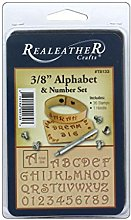 """Realeather 3/8"""" Alphabet and Number Stamp Tool"""