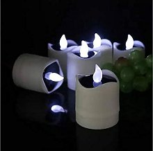 Realistic 6pcs/Lot powered LED Electronic Tealight
