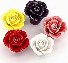 REAPP Cabinet Knob 8xUnique Rose Flower Knobs