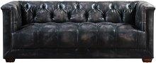 Reardon Leather 2 Seater Chesterfield Sofa