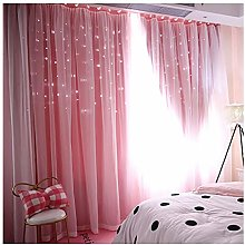 Reasoncool Starry Sky Sheer Voile Curtain Tulle
