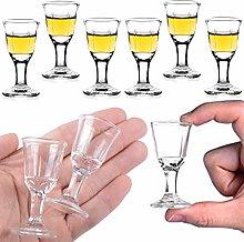 REATR 10ml Unique Mini Wine Shot Glasses Set of 6