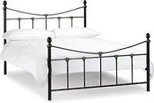Rebecca Black Metal Bed Frame - 4ft6 Double