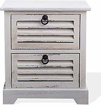 Rebecca Mobili Bedside Cabinet Furniture 2 drawers