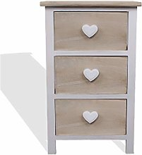 Rebecca Mobili Bedside table Cabinet 3 Drawers