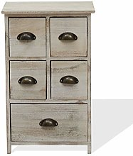 Rebecca Mobili Bedside Table Cabinet Wood shabby