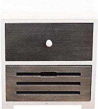 Rebecca Mobili Cabinet 2 Drawers Wood Black White