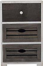 Rebecca Mobili Cabinet 3 Drawers Wood Black White
