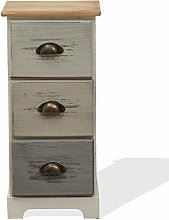 Rebecca Mobili Cabinet Bedside Table 3 Drawers