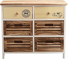 Rebecca Mobili Chest of Drawer Cabinet 6 Drawers