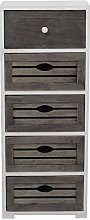 Rebecca Mobili Chest of Drawers Bathroom Cabinet 5