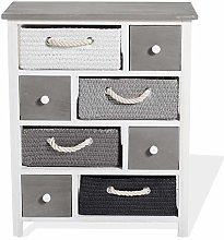Rebecca Mobili Chest of drawers Cabinet 4 Wooden