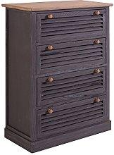 Rebecca Mobili Furniture Cabinet 4 Drawers Wood