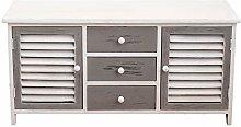 Rebecca Mobili Low Sideboard Tv Cabinet 2 Doors 3