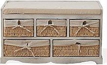Rebecca Mobili Storage Bench Seat Cabinet 1 Padded