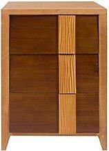 Rebecca Mobili Table Cabinet Wood Brown Beige