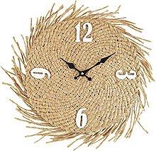 Rebecca Mobili Wall Clock, MDF, Straw Wall Clocks,