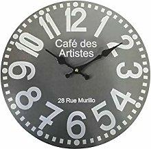 Rebecca Mobili Wall Clock, Wall Clock, Gray, Mdf,